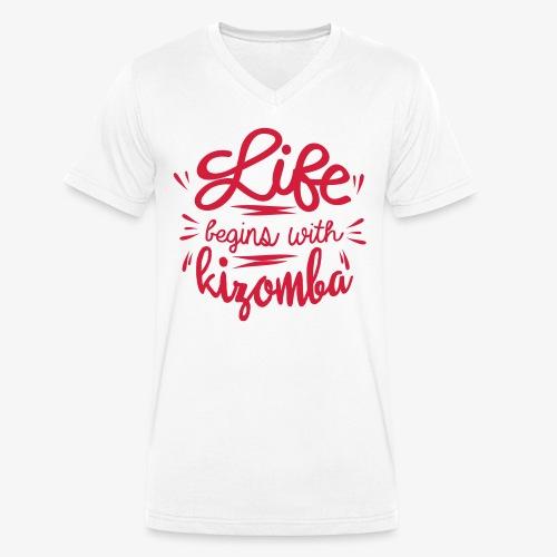 _Life_begins_kiz - T-shirt bio col V Stanley & Stella Homme