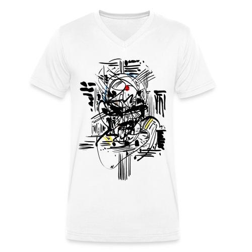 Samurai Ink - Men's Organic V-Neck T-Shirt by Stanley & Stella