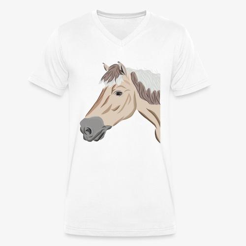 Fjord Pony - Männer Bio-T-Shirt mit V-Ausschnitt von Stanley & Stella