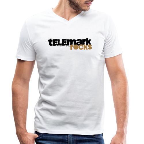 Telemark rocks - Männer Bio-T-Shirt mit V-Ausschnitt von Stanley & Stella