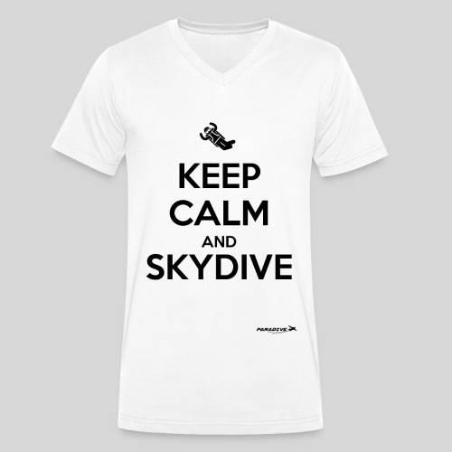 Keep calm and skydive - T-shirt bio col V Stanley & Stella Homme