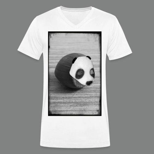 pandanuss2015graurahmen2 - Männer Bio-T-Shirt mit V-Ausschnitt von Stanley & Stella