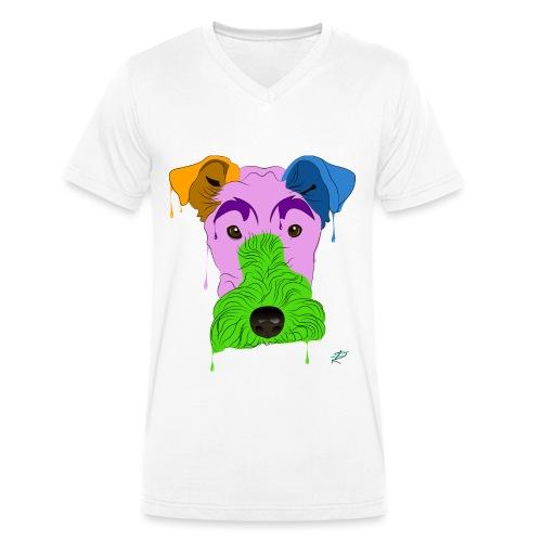 Fox Terrier - T-shirt ecologica da uomo con scollo a V di Stanley & Stella