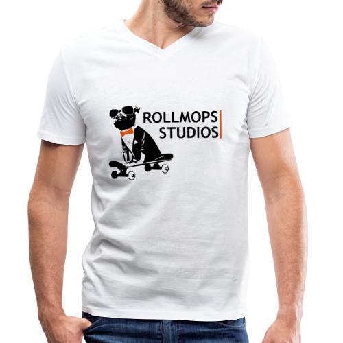Rollmopsstudios - Männer Bio-T-Shirt mit V-Ausschnitt von Stanley & Stella