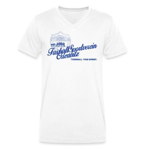 Shirt V2 Design blau Rev1 gif - Männer Bio-T-Shirt mit V-Ausschnitt von Stanley & Stella