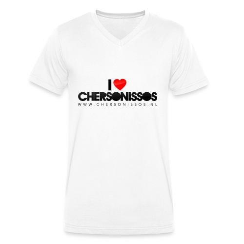 ilovechersonissos v-neck - Mannen bio T-shirt met V-hals van Stanley & Stella