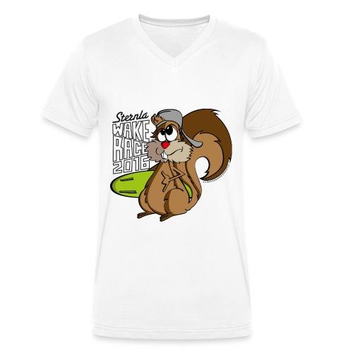 Eichhörnchen_Pfade - Männer Bio-T-Shirt mit V-Ausschnitt von Stanley & Stella