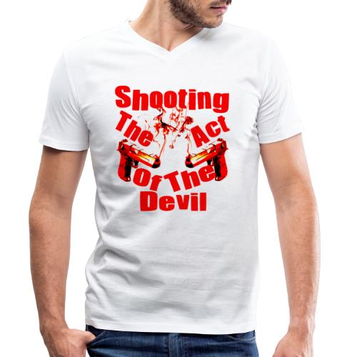 Shooting The Act Of Devil - T-shirt bio col V Stanley & Stella Homme