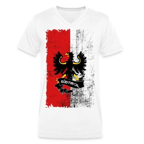 Retro Style Südtirol - Männer Bio-T-Shirt mit V-Ausschnitt von Stanley & Stella