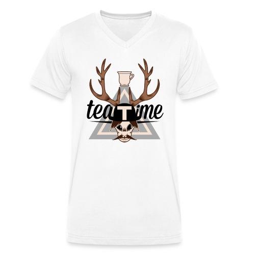 Logo TeaTime - T-shirt bio col V Stanley & Stella Homme