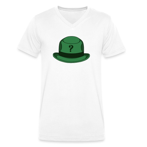 Grüner Rätsel Hut Riddler - Männer Bio-T-Shirt mit V-Ausschnitt von Stanley & Stella