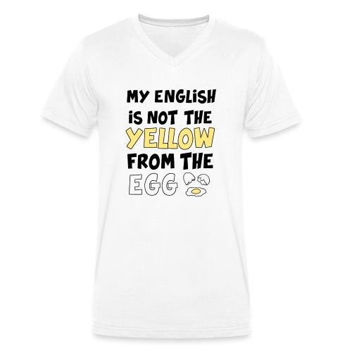 Schlechtes Englisch Witz Typografie - Männer Bio-T-Shirt mit V-Ausschnitt von Stanley & Stella