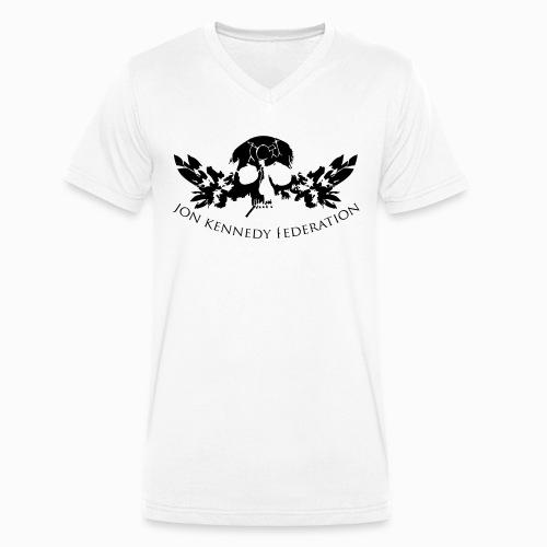 Jon Kennedy Federation Skull Logo 2.2 - Men's Organic V-Neck T-Shirt by Stanley & Stella