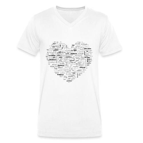 Heart Cluster - Men's Organic V-Neck T-Shirt by Stanley & Stella