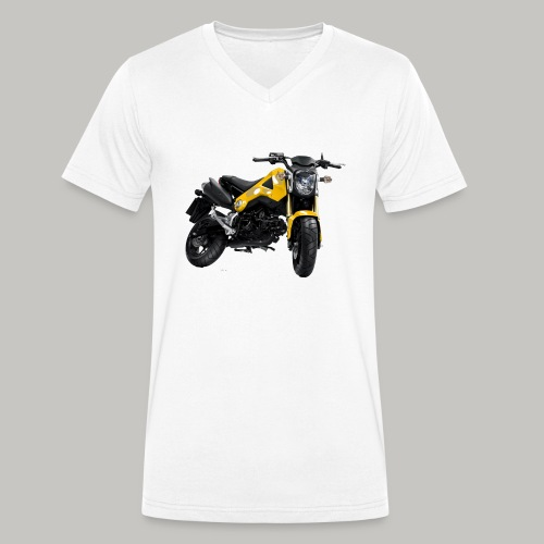 Grom Motorcycle (Monkey Bike) - Men's Organic V-Neck T-Shirt by Stanley & Stella