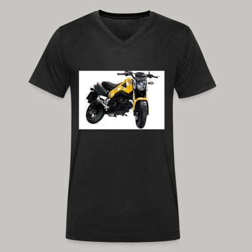 Grom Motorcycle (Monkey Bike) - Men's Organic V-Neck T-Shirt by Stanley & Stella