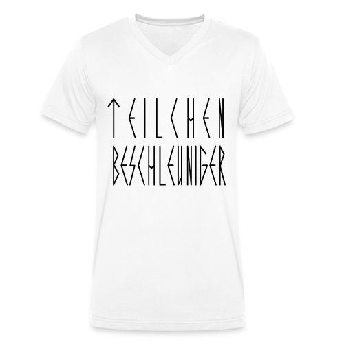 TEILCHEN BESCHLEUNIGER SCHWARZ - Männer Bio-T-Shirt mit V-Ausschnitt von Stanley & Stella