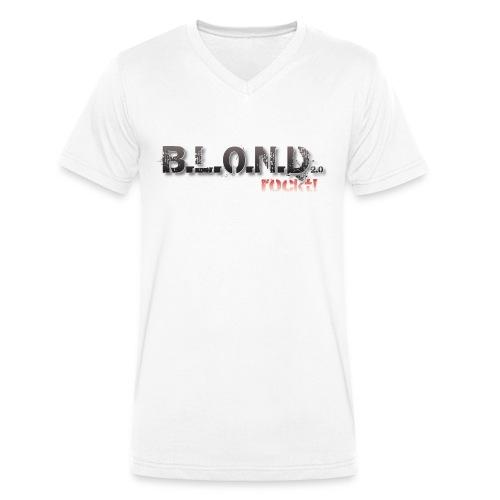 Logo 7000px png - Männer Bio-T-Shirt mit V-Ausschnitt von Stanley & Stella