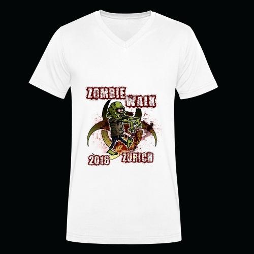 shirt zombie walk3 - Männer Bio-T-Shirt mit V-Ausschnitt von Stanley & Stella