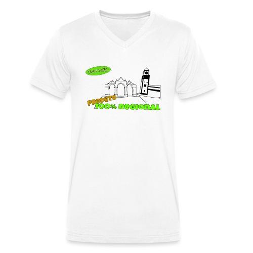 City Gates - Men's Organic V-Neck T-Shirt by Stanley & Stella