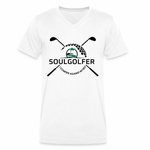 I compete against myself - soulgolfer - Männer Bio-T-Shirt mit V-Ausschnitt von Stanley & Stella