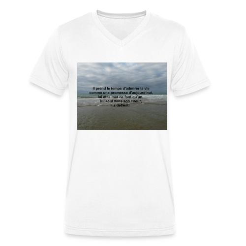 La mer - T-shirt bio col V Stanley & Stella Homme