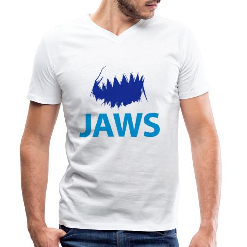 Jaws Dangerous T-Shirt - Men's Organic V-Neck T-Shirt by Stanley & Stella