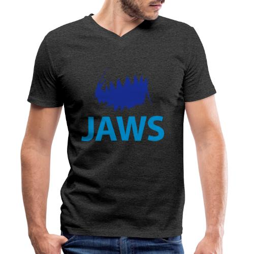 Jaws Dangerous T-Shirt - Men's Organic V-Neck T-Shirt by Stanley & Stella