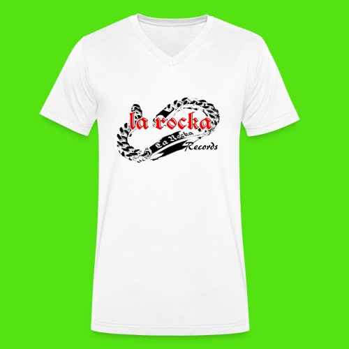 La Rocka - white'n'red2 - Men's Organic V-Neck T-Shirt by Stanley & Stella