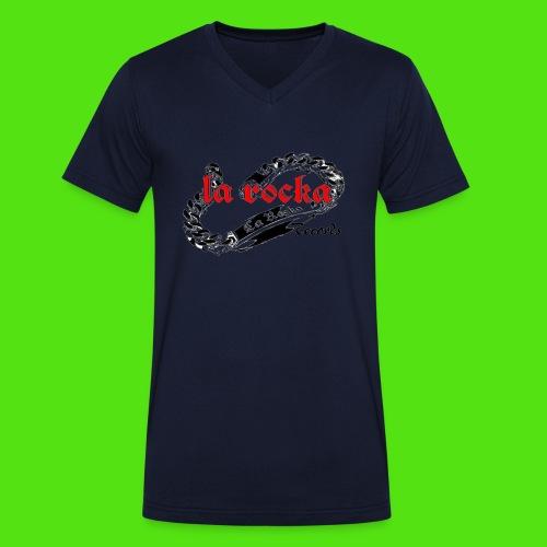 La Rocka - white'n'red2 - Men's Organic V-Neck T-Shirt by Stanley & Stella