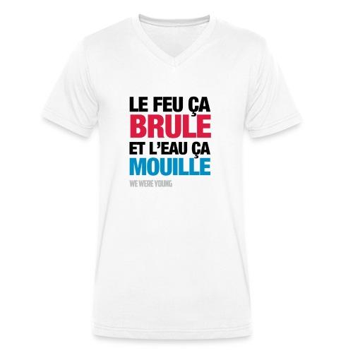 feu png - T-shirt bio col V Stanley & Stella Homme
