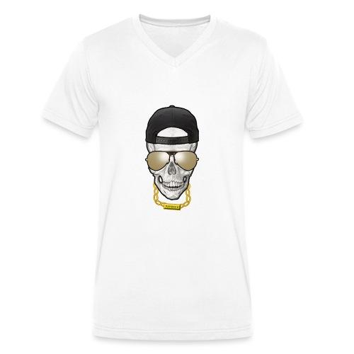 Thug skull black png - T-shirt bio col V Stanley & Stella Homme