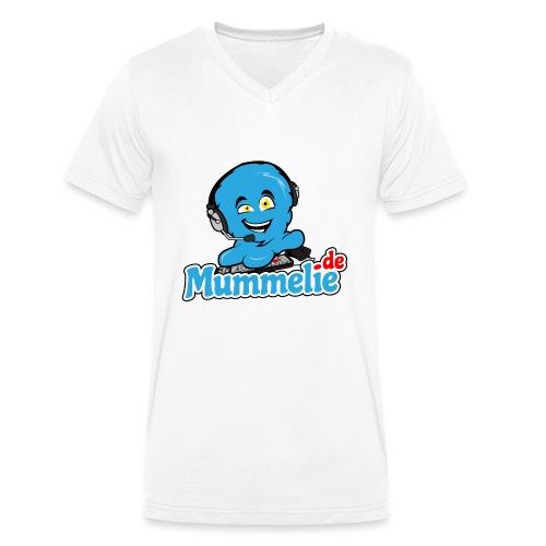 blau komplett übereinander - Männer Bio-T-Shirt mit V-Ausschnitt von Stanley & Stella