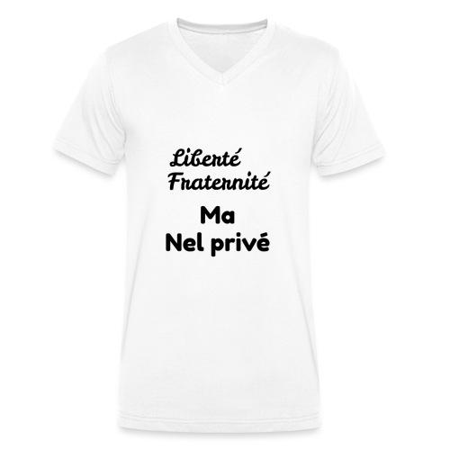 Libertè - T-shirt ecologica da uomo con scollo a V di Stanley & Stella