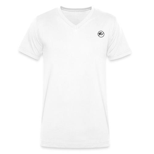 RJ LOGO - Men's Organic V-Neck T-Shirt by Stanley & Stella