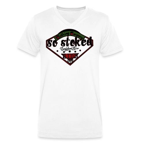 So Stoked - Økologisk T-skjorte med V-hals for menn fra Stanley & Stella