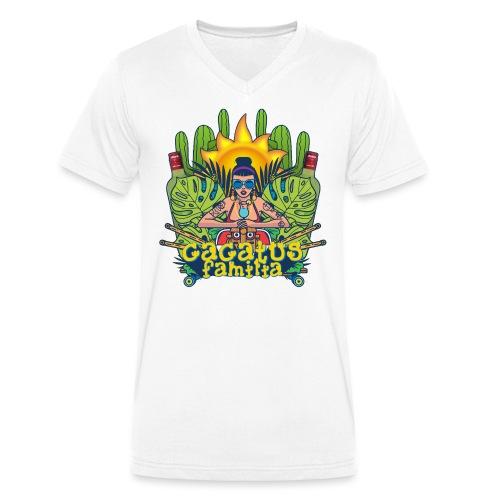 SUMMERFEST 2016 - Mannen bio T-shirt met V-hals van Stanley & Stella