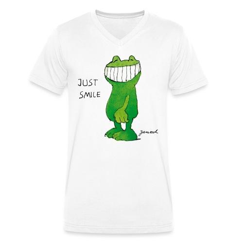 Janoschs Günter Kastenfrosch Just Smile - Männer Bio-T-Shirt mit V-Ausschnitt von Stanley & Stella