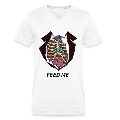 feed me zombiebauch - Männer Bio-T-Shirt mit V-Ausschnitt von Stanley & Stella