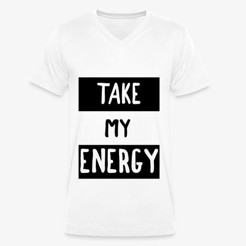TAKE MY ENERGY - T-shirt bio col V Stanley & Stella Homme
