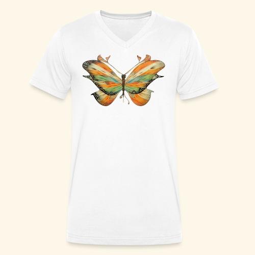 grande farfalla colorata - T-shirt ecologica da uomo con scollo a V di Stanley & Stella