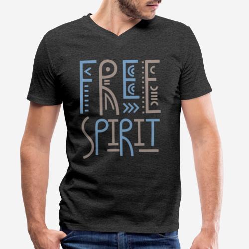 Freigeist Freiheit - Männer Bio-T-Shirt mit V-Ausschnitt von Stanley & Stella