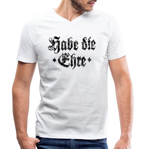 Habe die Ehre (Vintage/Schwarz) - Männer Bio-T-Shirt mit V-Ausschnitt von Stanley & Stella