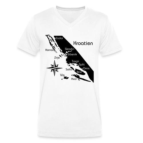 Kroatien Zadar bis Hvar - Männer Bio-T-Shirt mit V-Ausschnitt von Stanley & Stella