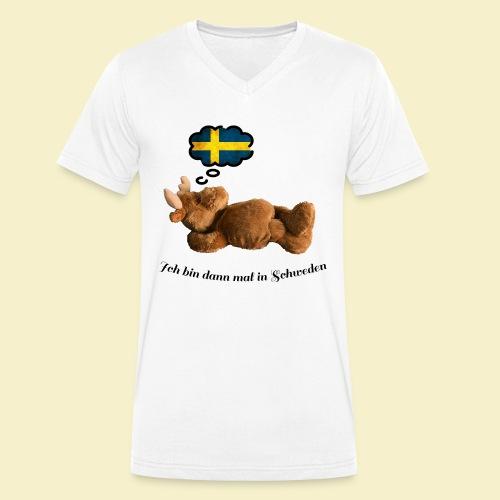 Bin dann mal in Schweden - Männer Bio-T-Shirt mit V-Ausschnitt von Stanley & Stella