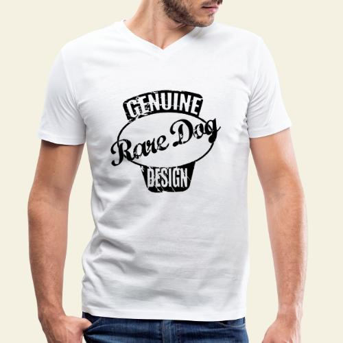 raredogdesign black - Økologisk Stanley & Stella T-shirt med V-udskæring til herrer
