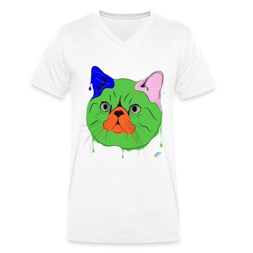Exotic Shorthair - T-shirt ecologica da uomo con scollo a V di Stanley & Stella