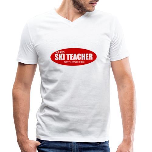 asteacher - Mannen bio T-shirt met V-hals van Stanley & Stella