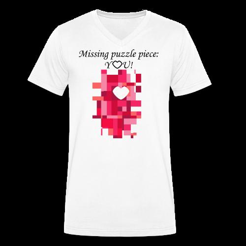 Missing puzzle piece: You - Männer Bio-T-Shirt mit V-Ausschnitt von Stanley & Stella