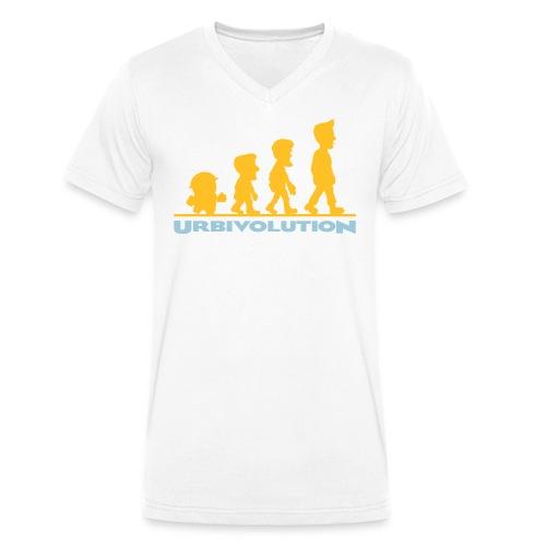 Urbivolution - Männer Bio-T-Shirt mit V-Ausschnitt von Stanley & Stella